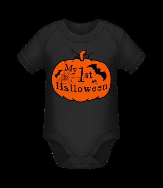 My First Halloween - Body manches courtes bio - Noir - Devant