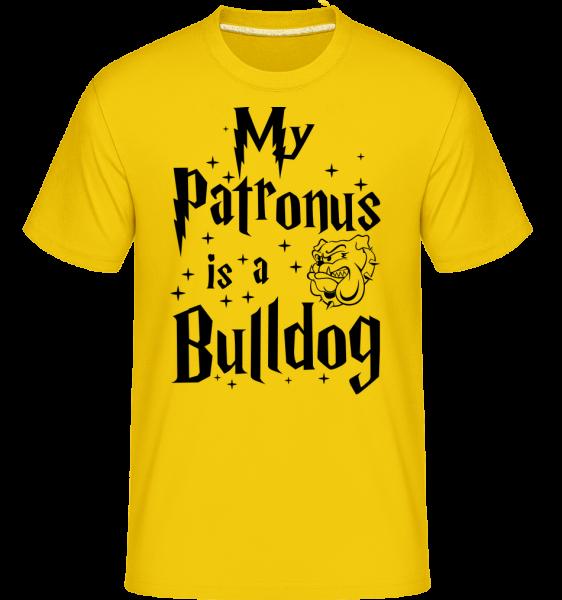 My Patronus Is A Bulldog - T-Shirt Shirtinator homme - Jaune doré - Devant