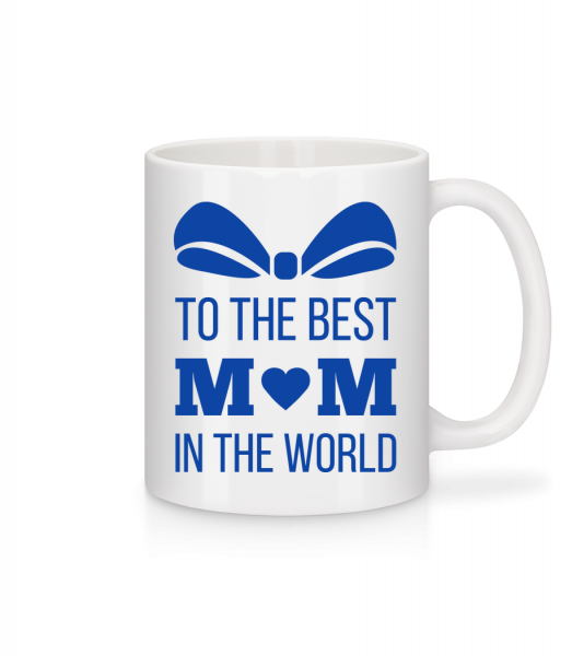 Best Mom In The World - Mug en céramique blanc - Blanc - Devant
