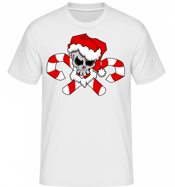 Crâne De Noël - T-Shirt Shirtinator homme - Blanc - Devant