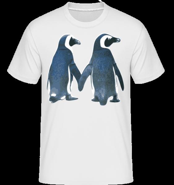 Couple De Pingouins - T-Shirt Shirtinator homme - Blanc - Devant