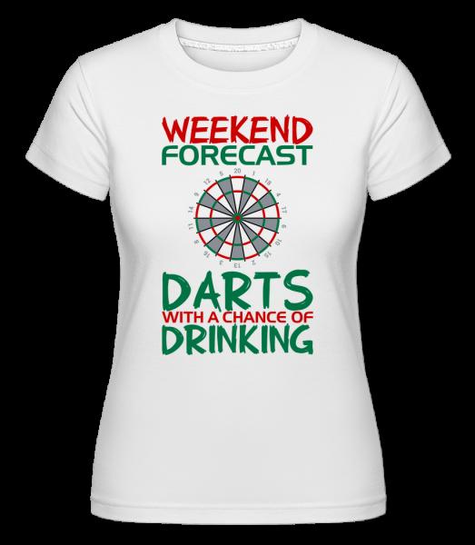 Weekend Darts And Drinking - T-shirt Shirtinator femme - Blanc - Devant