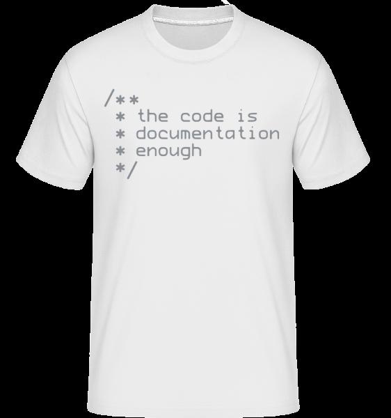 Code Is Documentation -  T-Shirt Shirtinator homme - Blanc - Devant