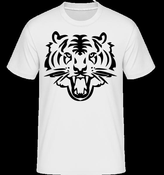 Tête De Tigre - T-Shirt Shirtinator homme - Blanc - Devant