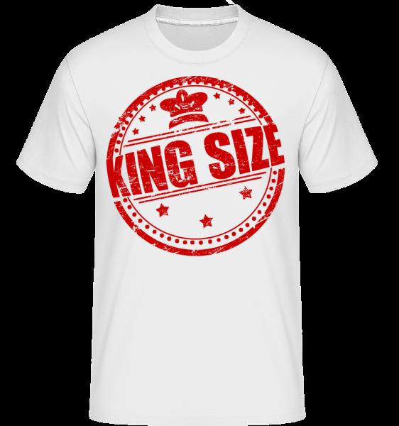 King Size Logo - T-Shirt Shirtinator homme - Blanc - Devant