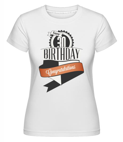 30 Birthday Congrats -  T-shirt Shirtinator femme - Blanc - Devant