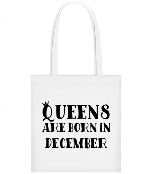 Queens Are Born In December - Sac tote - Blanc - Devant