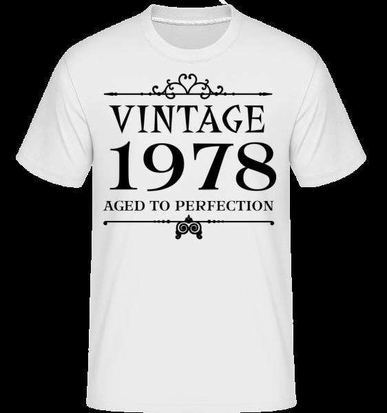 Vintage 1978 Perfection - T-Shirt Shirtinator homme - Blanc - Devant