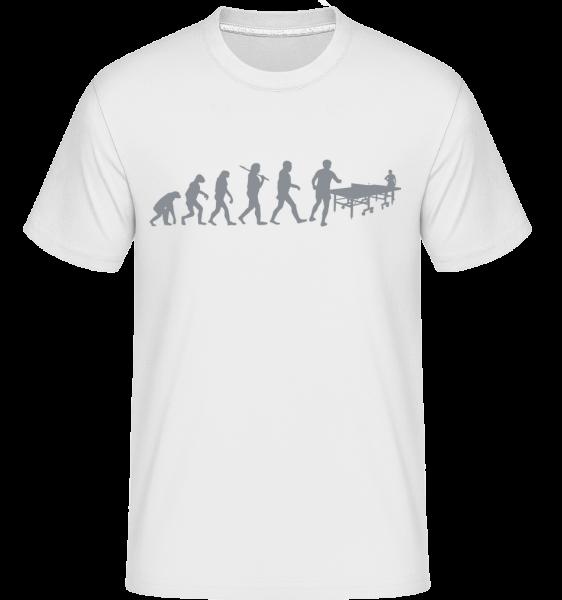 Évolution De Ping Pong - T-Shirt Shirtinator homme - Blanc - Devant