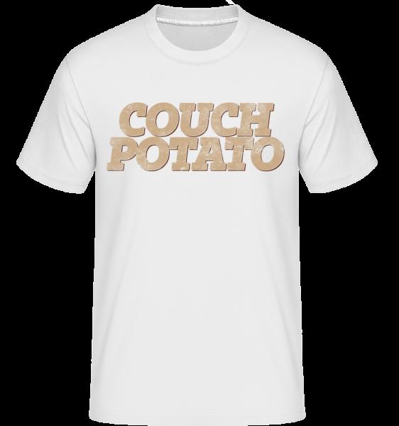 Couch Potato -  T-Shirt Shirtinator homme - Blanc - Devant