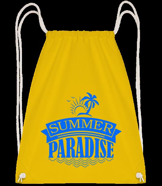 Summer Paradise Blue - Sac à dos Drawstring - Jaune - Devant