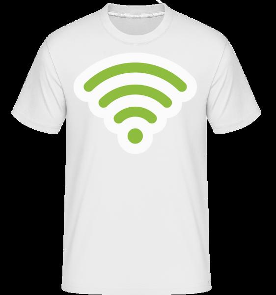 Wlan Icon Green -  T-Shirt Shirtinator homme - Blanc - Devant