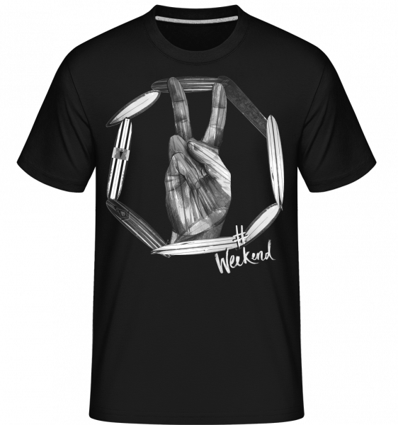 Weekend Peace -  T-Shirt Shirtinator homme - Noir - Devant