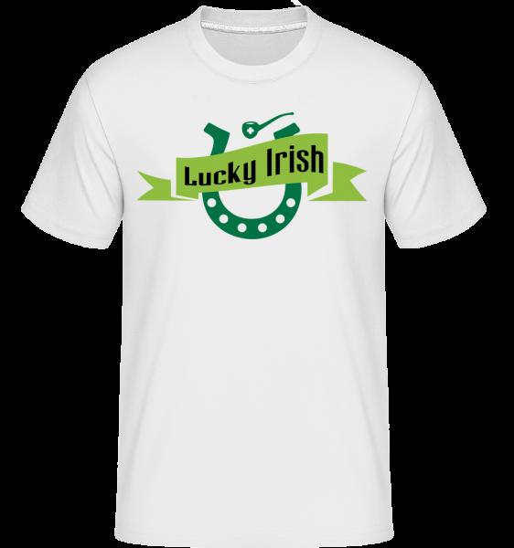 Lucky Irish Sign - T-Shirt Shirtinator homme - Blanc - Devant
