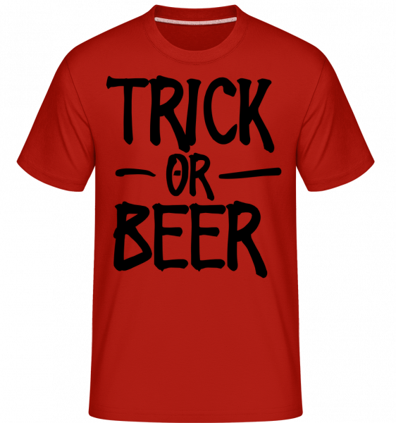 Trick Or Beer -  T-Shirt Shirtinator homme - Rouge - Devant