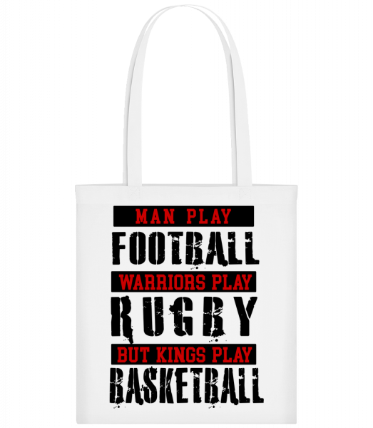 Kings Play Basketball - Sac tote - Blanc - Devant