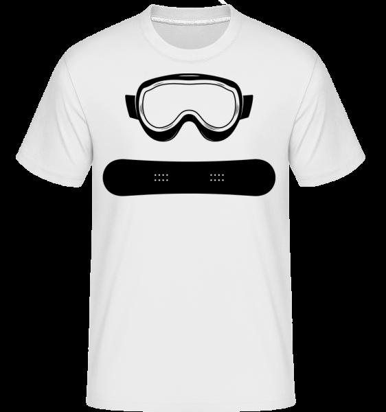 Équipement De Snowboard - T-Shirt Shirtinator homme - Blanc - Devant