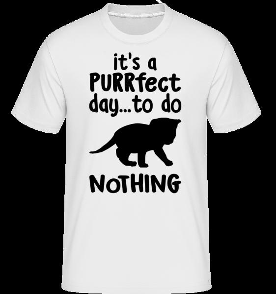 It's A Purrfect Day - T-Shirt Shirtinator homme - Blanc - Devant
