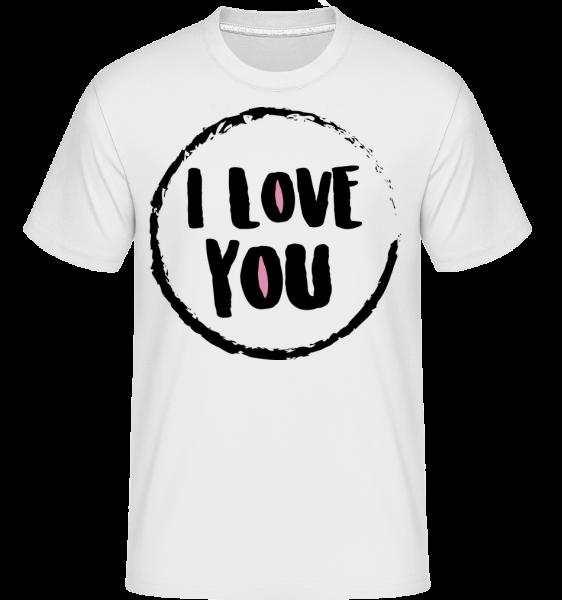 I Love You - T-Shirt Shirtinator homme - Blanc - Devant
