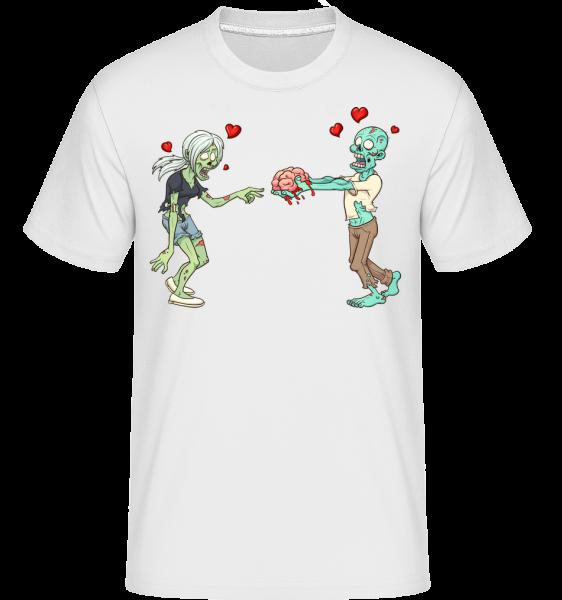 Zombies Amoureux - T-Shirt Shirtinator homme - Blanc - Devant