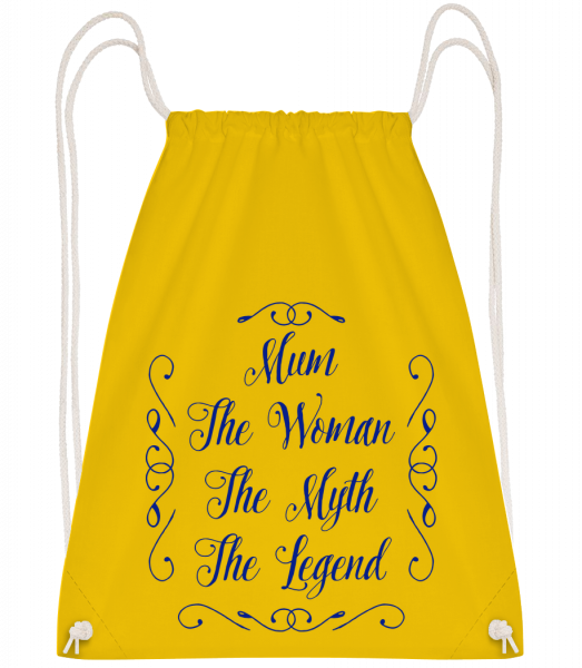 Mum - The Legend - Sac à dos Drawstring - Jaune - Devant