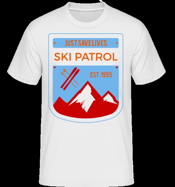 Ski Patrol Sign - T-Shirt Shirtinator homme - Blanc - Devant