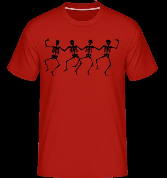 Squelettes Dancant -  T-Shirt Shirtinator homme - Rouge - Devant