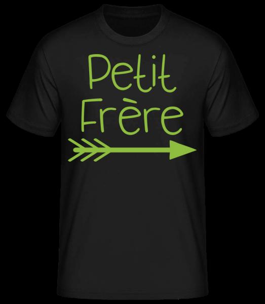 Petit Frère - T-shirt standard homme - Noir - Devant