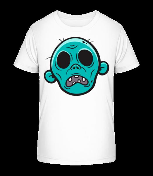 Zombie Sans Yeux - T-shirt bio Premium Enfant - Blanc - Devant