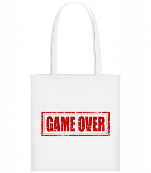 Game Over Sign Red - Sac tote - Blanc - Devant