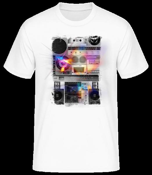 Ghettoblaster - T-shirt standard homme - Blanc - Devant