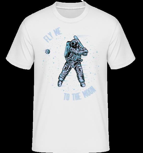 Fly Me To The Moon - T-Shirt Shirtinator homme - Blanc - Devant
