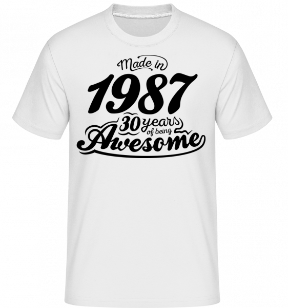 Made In 1987 - T-Shirt Shirtinator homme - Blanc - Devant