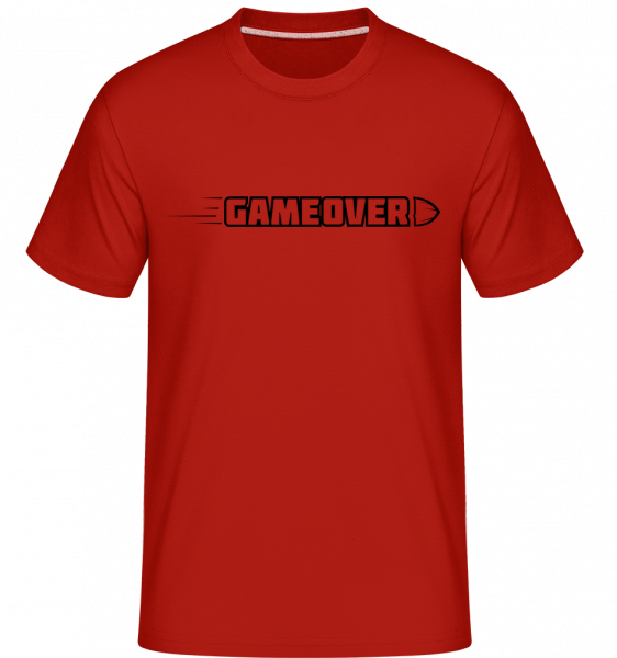 Game Over Simple Sign - T-Shirt Shirtinator homme - Rouge - Devant