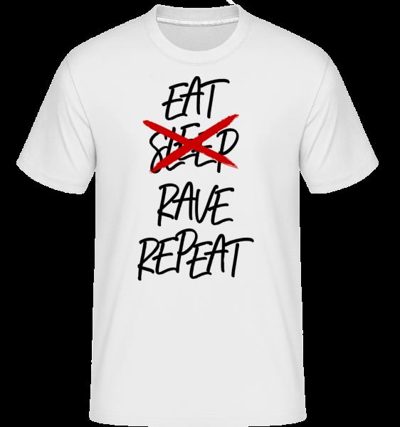 Eat Rave Repeat - T-Shirt Shirtinator homme - Blanc - Devant