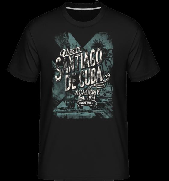 Varsity Santiago De Cuba - T-Shirt Shirtinator homme - Noir - Devant