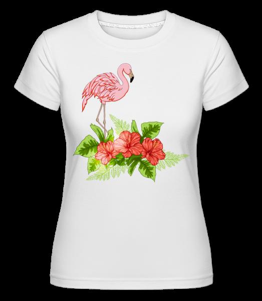 Flamingo In Paradise - T-shirt Shirtinator femme - Blanc - Devant