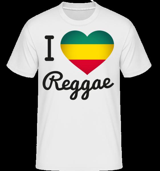 I Love Reggae - T-Shirt Shirtinator homme - Blanc - Devant