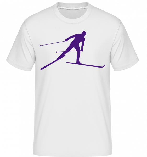 Skieur - T-Shirt Shirtinator homme - Blanc - Devant