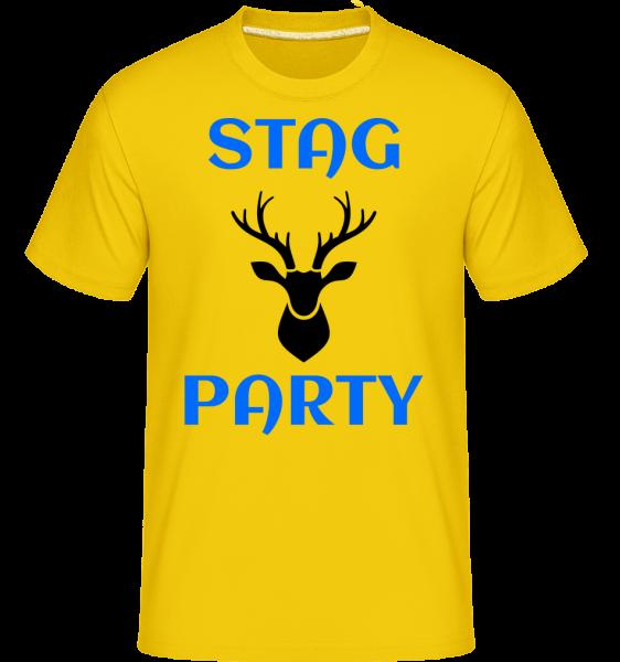 Stag Party -  T-Shirt Shirtinator homme - Jaune doré - Devant