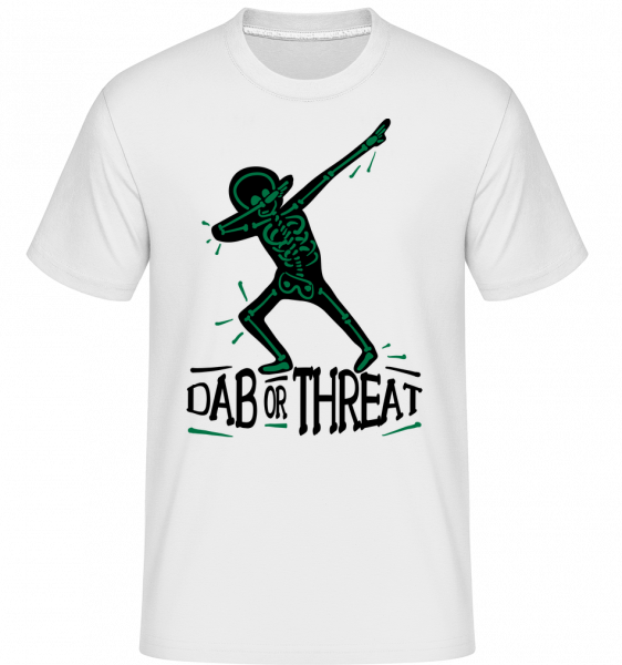 Dab or Threat - T-Shirt Shirtinator homme - Blanc - Devant