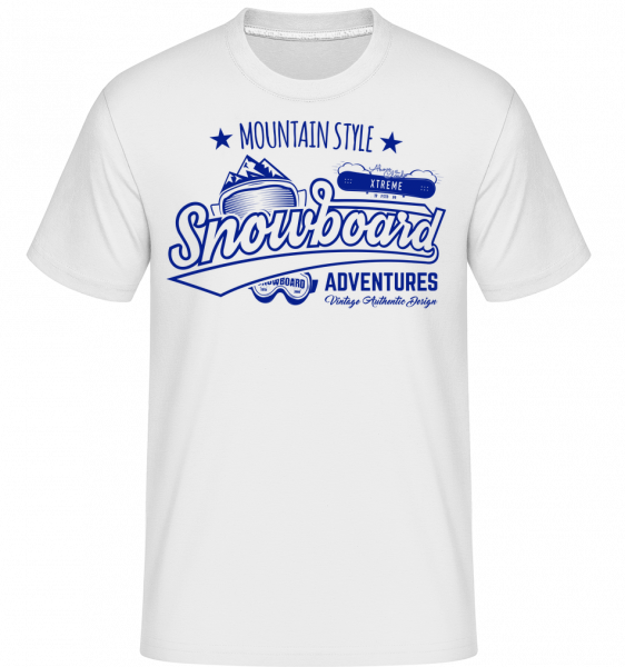 Snowboarding Mountain Style Logo - T-Shirt Shirtinator homme - Blanc - Devant