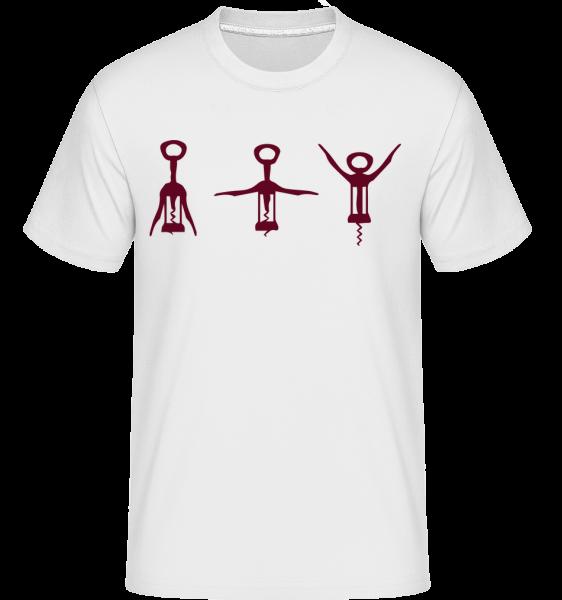 Tire-Bouchon - T-Shirt Shirtinator homme - Blanc - Devant