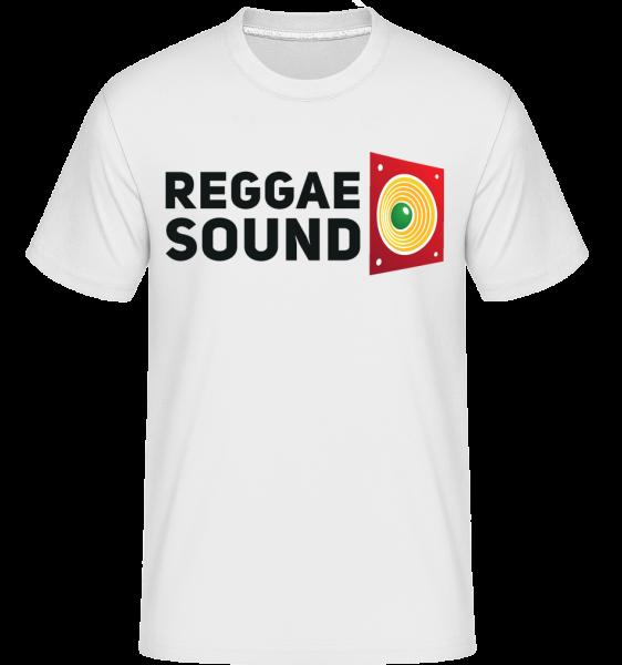 Reggae Sound -  T-Shirt Shirtinator homme - Blanc - Devant