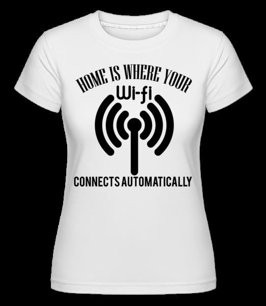 When The Wifi Connects - T-shirt Shirtinator femme - Blanc - Devant