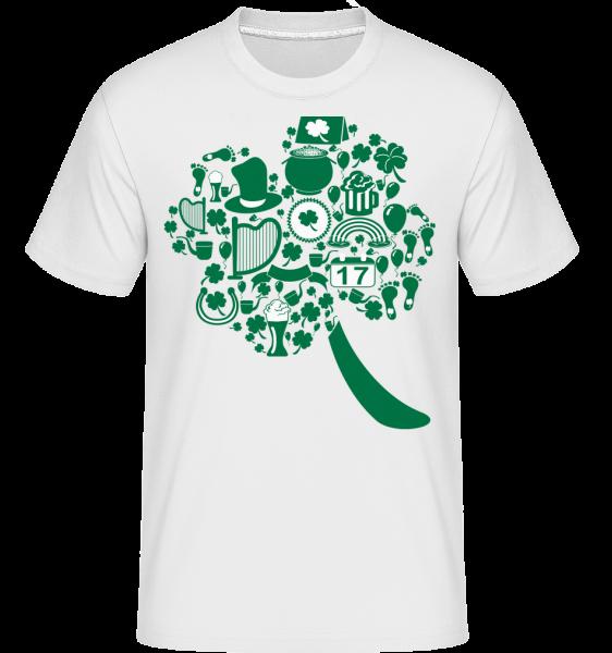 Ireland Symbols - T-Shirt Shirtinator homme - Blanc - Devant