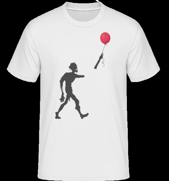 Zombie Ballon - T-Shirt Shirtinator homme - Blanc - Devant
