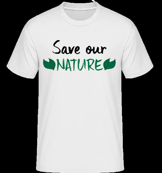 Save Our Nature - T-Shirt Shirtinator homme - Blanc - Devant