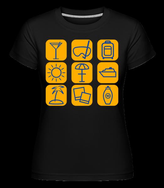 Vacances D'Été -  T-shirt Shirtinator femme - Noir - Devant