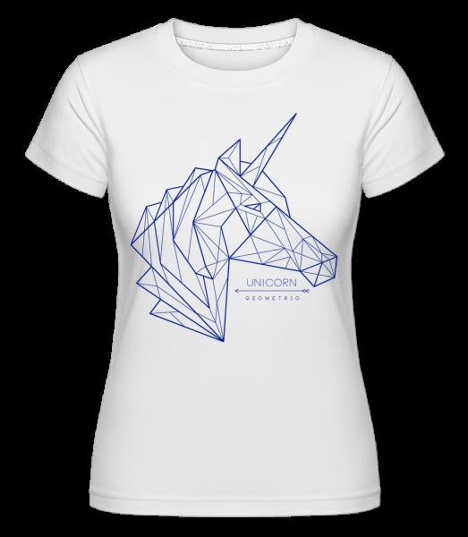 Geometrie Einhorn - T-shirt Shirtinator femme - Blanc - Devant